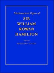 Cover of: The mathematical papers of Sir William Rowan Hamilton