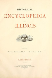 Cover of: Historical encylopedia of Illinois