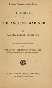Cover of: Rime of the ancient mariner
