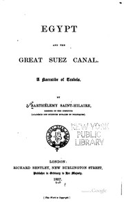 Cover of: Egypt and the great Suez canal