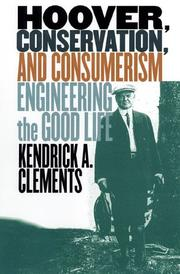 Cover of: Hoover, conservation, and consumerism