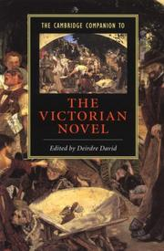 Cover of: The Cambridge companion to the Victorian novel