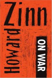 Cover of: Howard Zinn on war