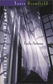 Cover of: Early autumn: a story of a lady