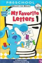 Cover of: My favorite letters