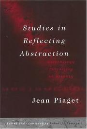 Cover of: Studies in reflecting abstraction