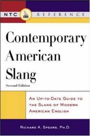 Cover of: Contemporary American slang