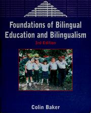 Cover of: Foundations of bilingual education and bilingualism