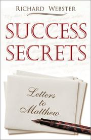 Cover of: Success secrets: letters to Matthew
