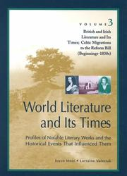 Cover of: British and Irish literature and its times