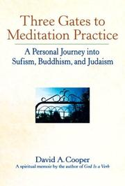 Cover of: Three Gates to Meditation Practice