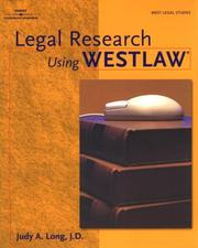Cover of: Legal research using Westlaw