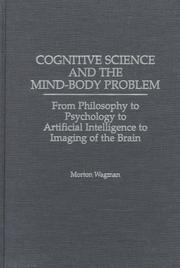 Cover of: Cognitive science and the mind-body problem