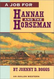 Cover of: A job for Hannah and the horseman