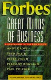 Cover of: Forbes great minds of business