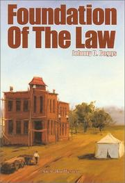 Cover of: Foundation of the law