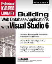 Cover of: Building Web database applications with Visual Studio 6