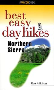 Cover of: Best easy day hikes, Northern Sierra