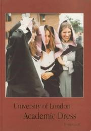 Cover of: University of London academic dress