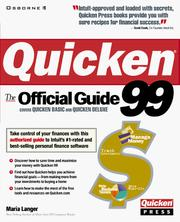Cover of: Quicken 99: the official guide