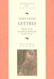 Cover of: James Ensor, lettres