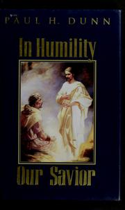 Cover of: In humility, our Savior