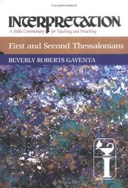 Cover of: First and Second Thessalonians