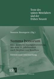 Cover of: Summa bonorum
