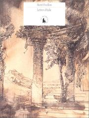 Cover of: Lettres d'Italie
