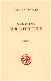 Cover of: Sermons sur l'écriture