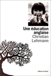Cover of: Une éducation anglaise