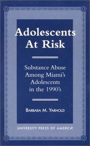Cover of: Adolescents at risk