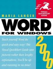 Cover of: Word 2000 for Windows