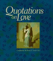 Cover of: Quotations on love