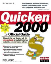 Cover of: Quicken 2000: the official guide
