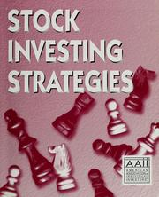 Cover of: Stock investing strategies