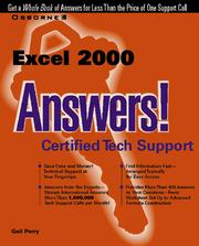 Cover of: Excel 2000 answers!
