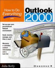 Cover of: How to do everything with Outlook 2000