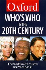 Cover of: Who's who in the twentieth century
