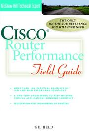 Cover of: Cisco router performance field guide