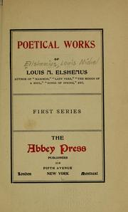 Cover of: Poetical works of Louis M. Elshemus