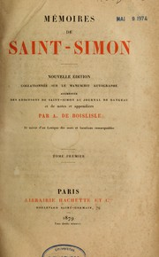 Cover of: Mémoires de Saint-Simon