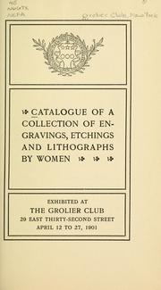 Cover of: Catalogue of a collection of engravings, etchings and lithographs by women