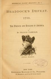 Cover of: Braddock's defeat. 1755: The French and English in America.