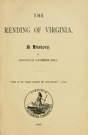 Cover of: The rending of Virginia