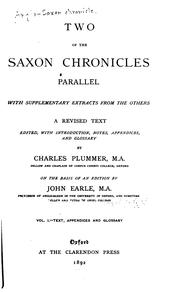 Cover of: Two of the Saxon chronicles parallel