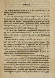 Cover of: Speech of Mr. A. Lincoln, of Illinois: on the civil and diplomatic appropriation bill; delivered in the House of Representatives of the United States, June 20, 1848.