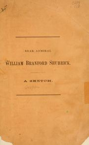 Cover of: Rear-Admiral William Branford Shubrick