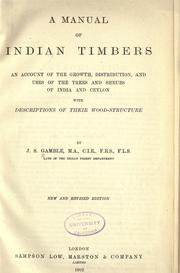 Cover of: A manual of Indian timbers