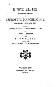 Cover of: Il teatro all moda, scrittura satirica